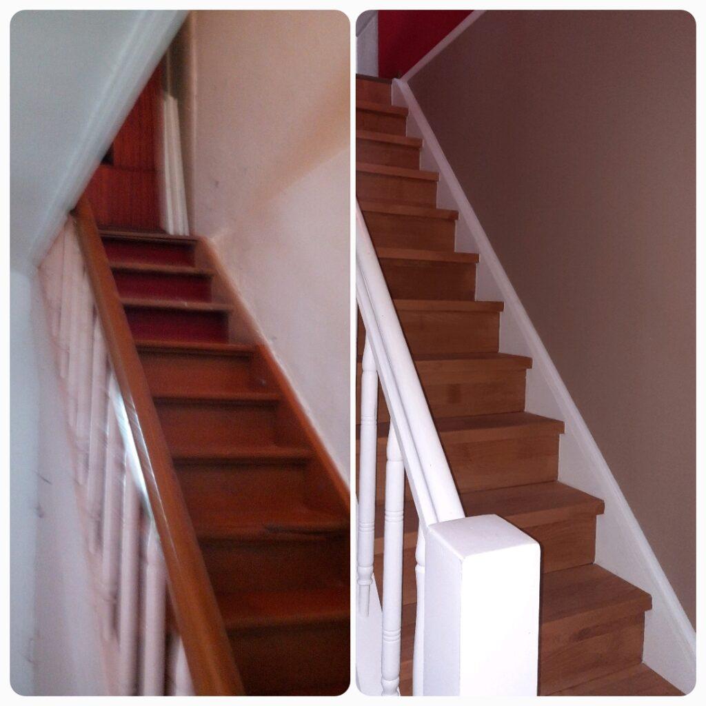 schody przed i po
